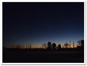 先日近くの小学校で撮影した夕日です。なんだか幻想的です。